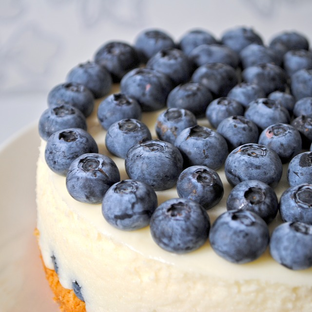 cheesecake bleues